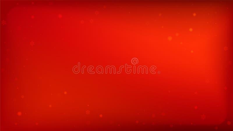 与落的雪花的美好的红色圣诞节背景 在红色背景的传染媒介落的雪花 n 库存例证