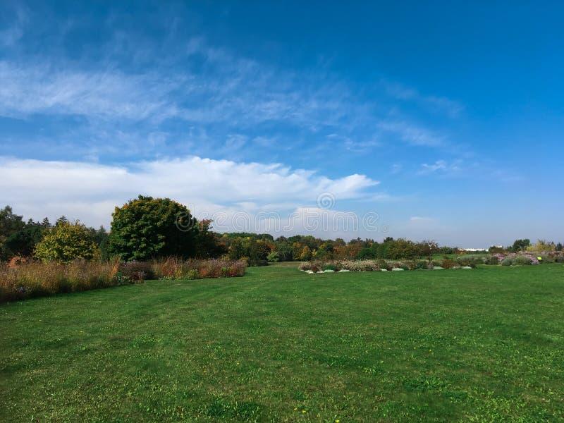与蓝天的自然风景 库存照片