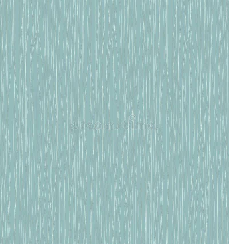与蓝线和曲线的无缝的背景 向量例证