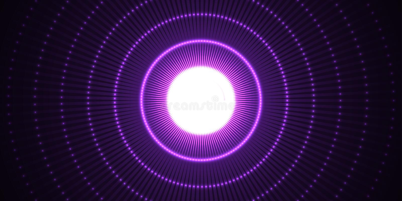 与蓝线的圈子光线影响 抽象背景 向量图形设计 库存例证