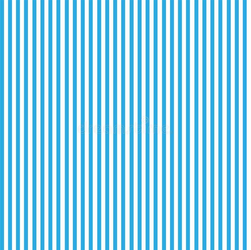 与蓝色和白色条纹的无缝的样式 库存例证