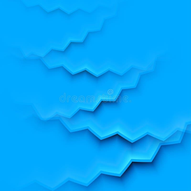 与蓝色层数的抽象传染媒介背景 皇族释放例证