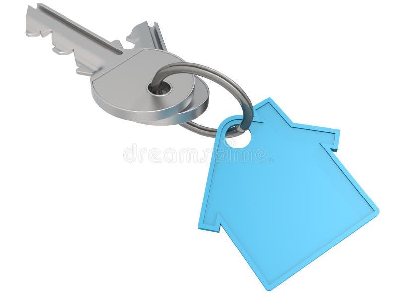 与蓝色房子象的议院钥匙 库存例证