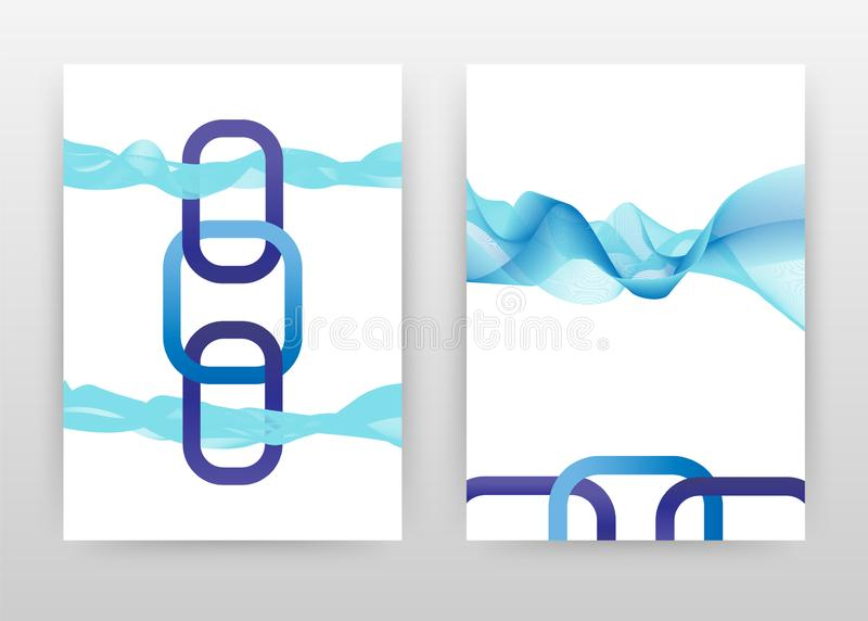 与蓝色挥动的线报告的,小册子,飞行物,海报纹理设计的几何紫色o信件 挥动的线背景传染媒介 皇族释放例证
