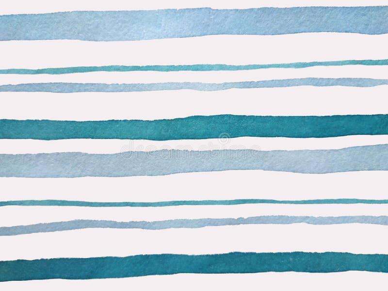 与蓝色条纹的背景 库存例证