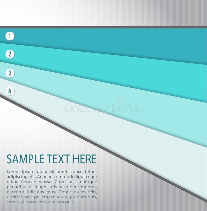 与蓝色横幅的抽象背景 向量例证