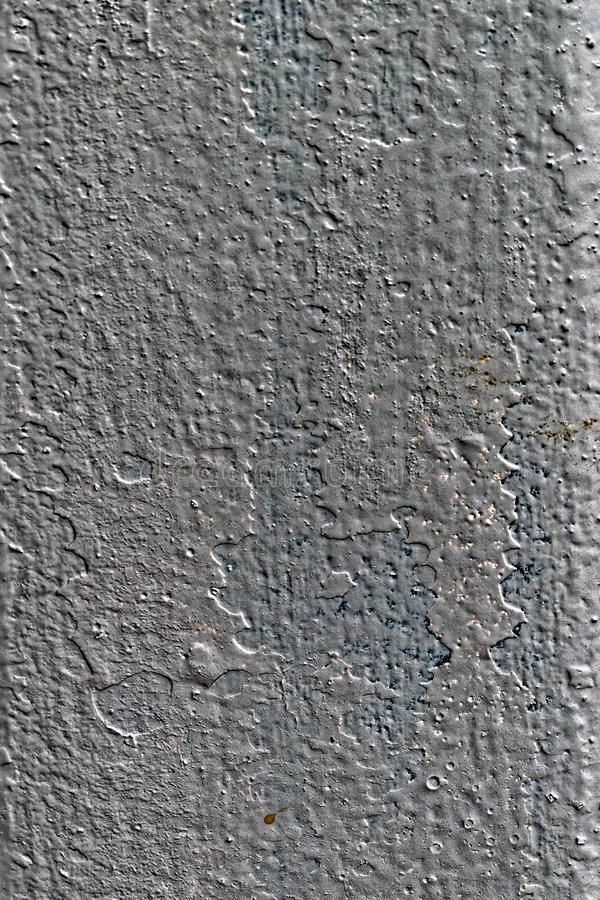 与蓝色污点的灰色金属表面构造照片 库存照片