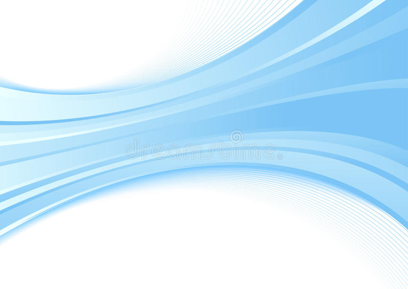 与蓝色波浪的现代背景-认可o 库存例证