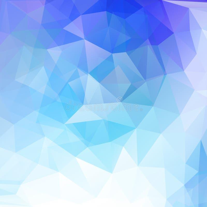 与蓝色的抽象几何背景 皇族释放例证