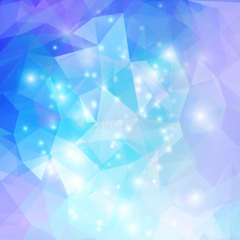 与蓝色的抽象几何背景 向量例证