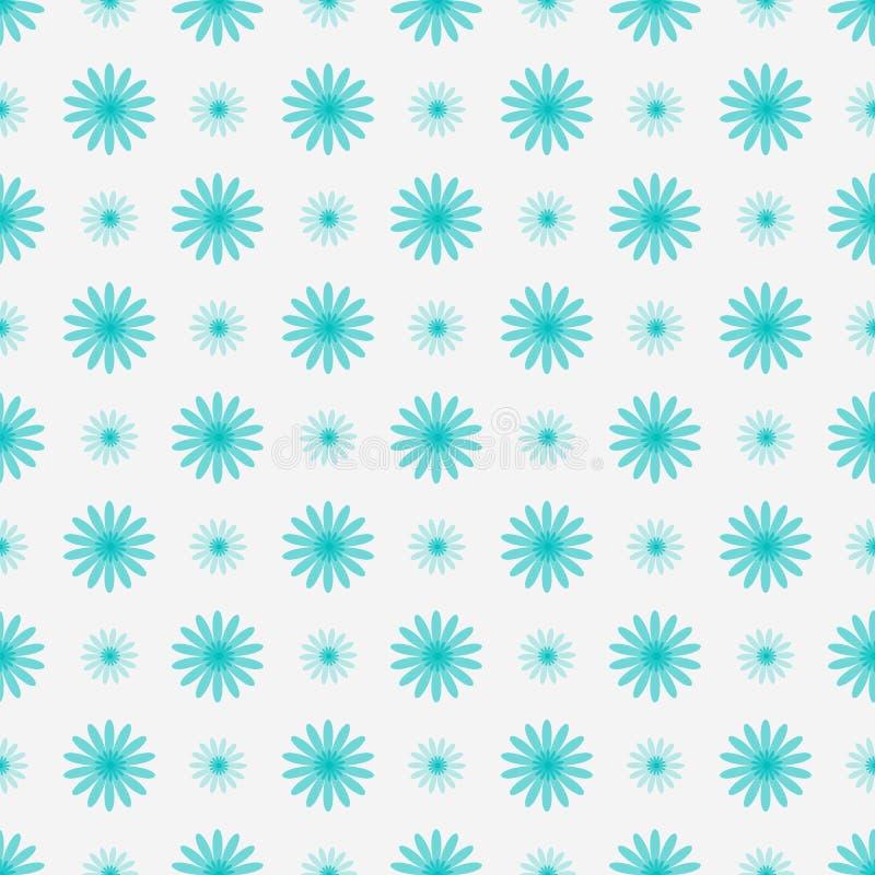 与蓝色花的精美花卉无缝的背景 免版税库存照片