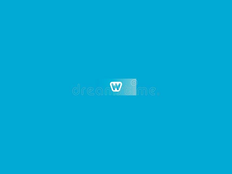 与蓝色颜色的图象的背景 免版税库存照片