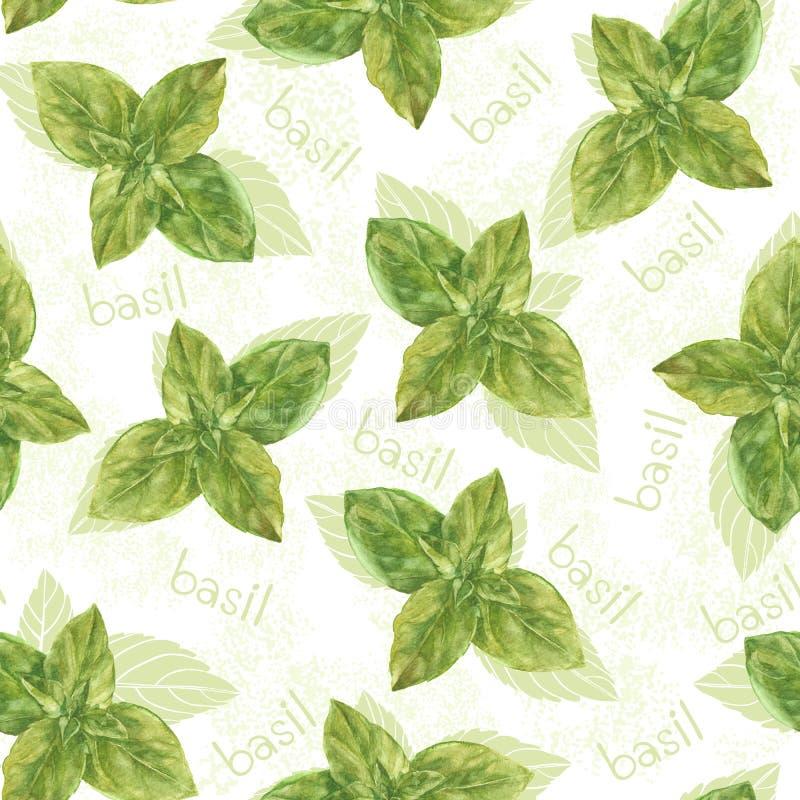 与蓬蒿的无缝的样式 背景被画的花卉现有量 单音 向量例证