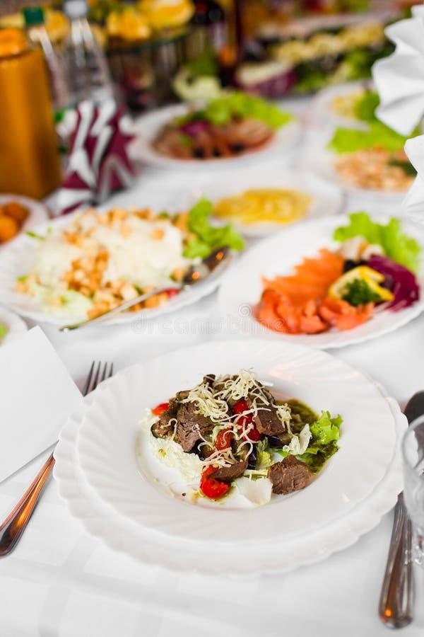 与蔬菜的肉 图库摄影