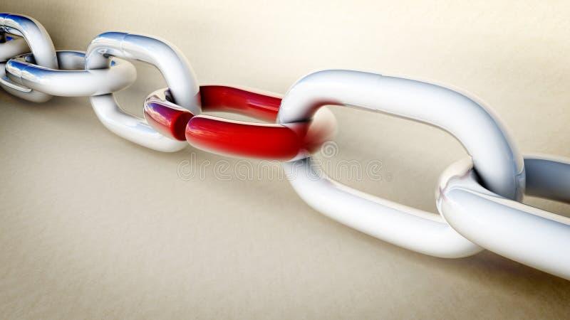 与薄弱环节的链子 库存例证