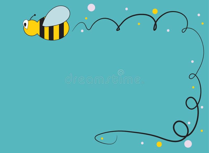 与蜂的卡片 库存例证