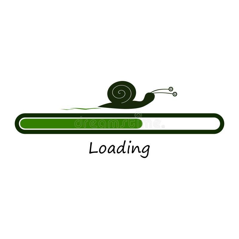 与蜗牛的绿色载重梁 库存例证