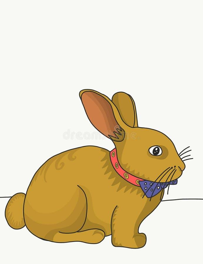 与蝴蝶的兔子 向量例证