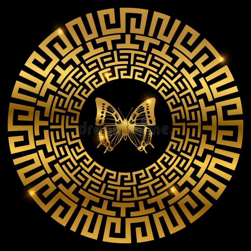 与蝴蝶的古希腊装饰品 皇族释放例证