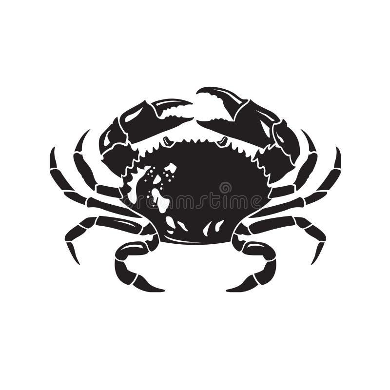 与螃蟹的图象 向量例证