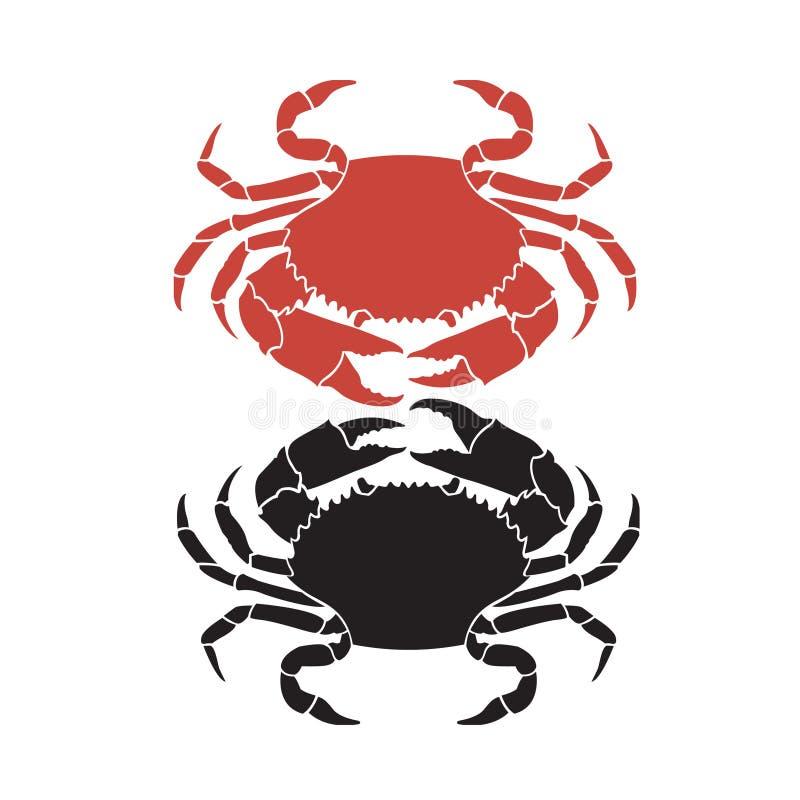 与螃蟹的图象 库存例证