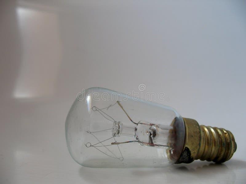 与螺丝灯座的透明电灯泡 图库摄影