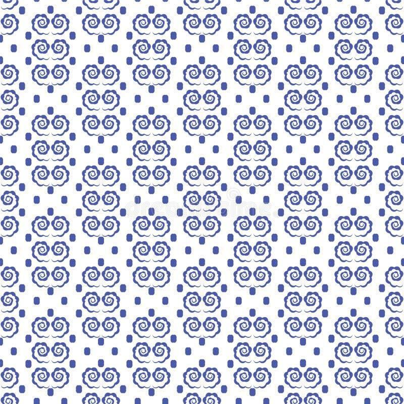 与螺旋元素的几何装饰品 库存例证