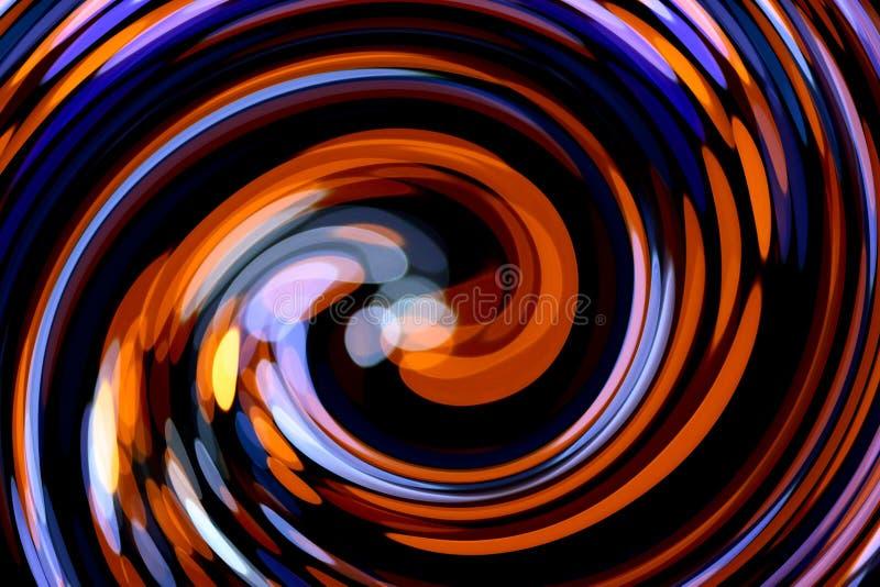 与螺旋形状的五颜六色的抽象背景 皇族释放例证