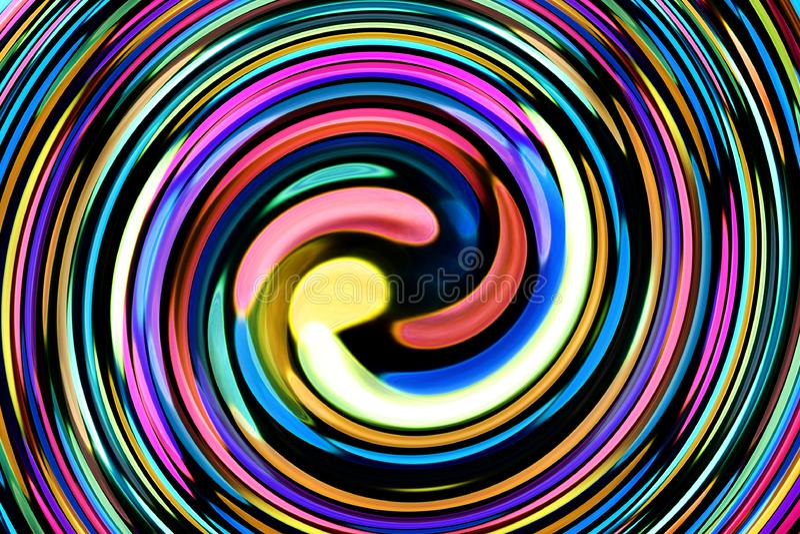 与螺旋形状的五颜六色的抽象背景 向量例证