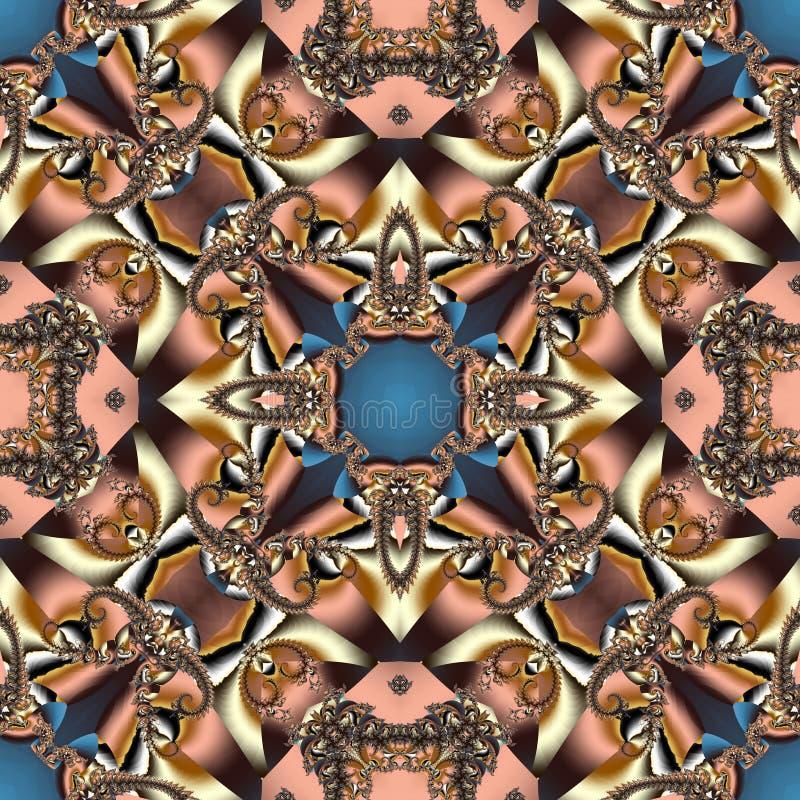 与螺旋样式的美妙的抽象背景 您能使用它 向量例证