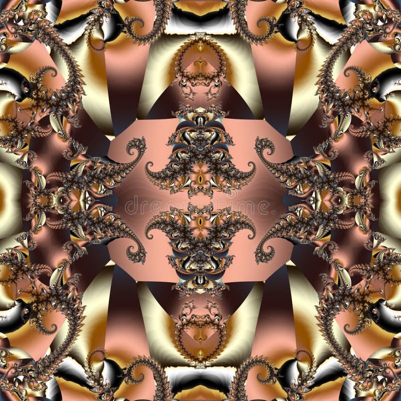 与螺旋样式的美妙的抽象背景 您能使用它 皇族释放例证