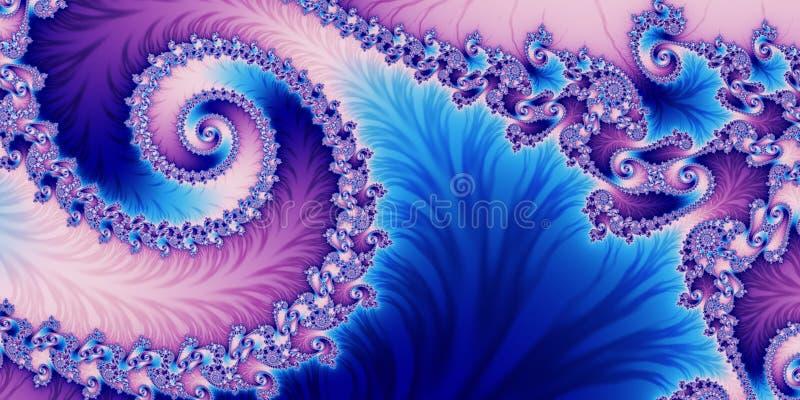 与螺旋样式的美妙的水平的抽象背景 您 皇族释放例证