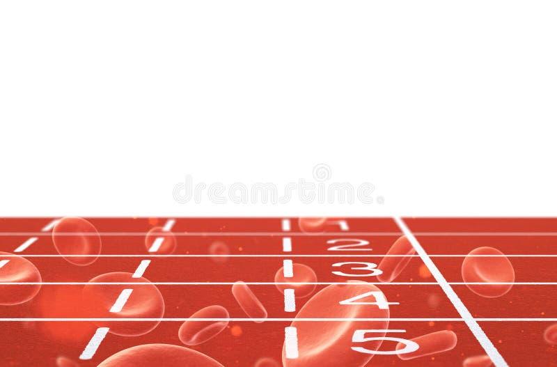 与血细胞的连续轨道 皇族释放例证
