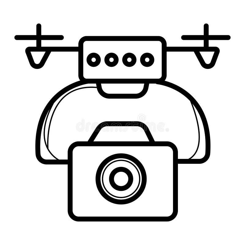 与行动照相机的寄生虫Quadrocopter 库存例证