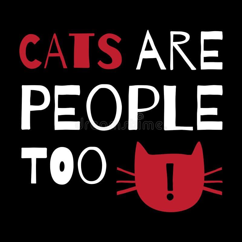 与行情的贺卡关于猫 向量例证