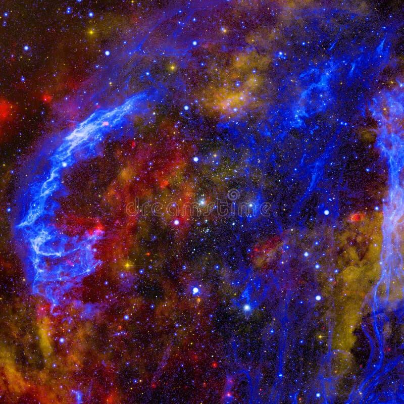 与行星、星和星系的宇宙场面在外层空间 向量例证