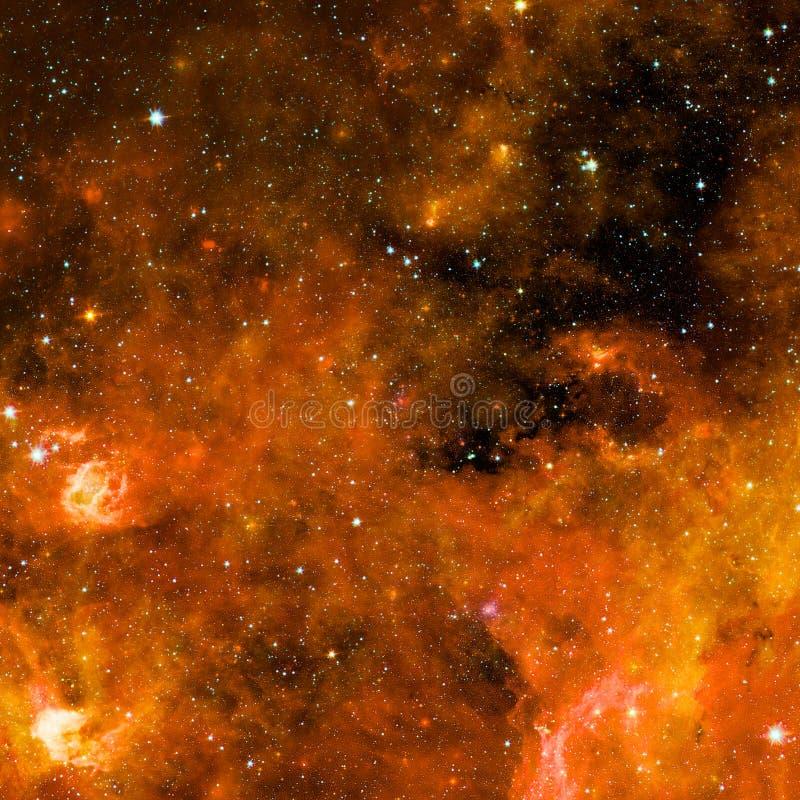 与行星、星和星系的宇宙场面在外层空间 免版税图库摄影