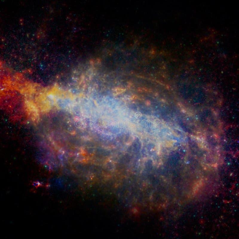 与行星、星和星系的宇宙场面在外层空间 皇族释放例证