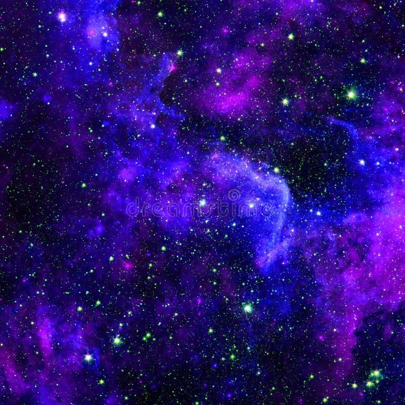 与行星、星和星系的宇宙场面在外层空间 免版税库存图片