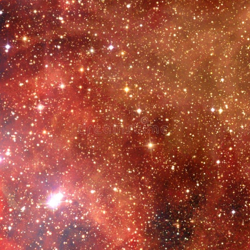 与行星、星和星系的宇宙场面在外层空间 库存图片