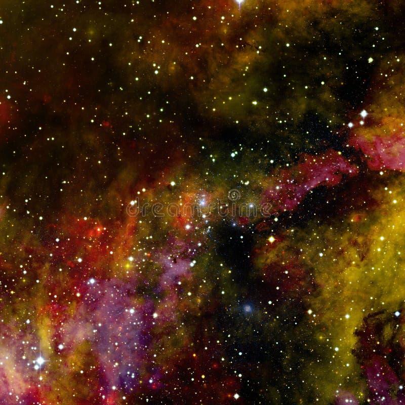 与行星、星和星系的宇宙场面在外层空间 图库摄影