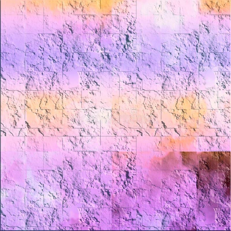 与被修补的颜色的脏的表面 艺术创造性的神色的板料背景 抽象纸纹理 向量例证