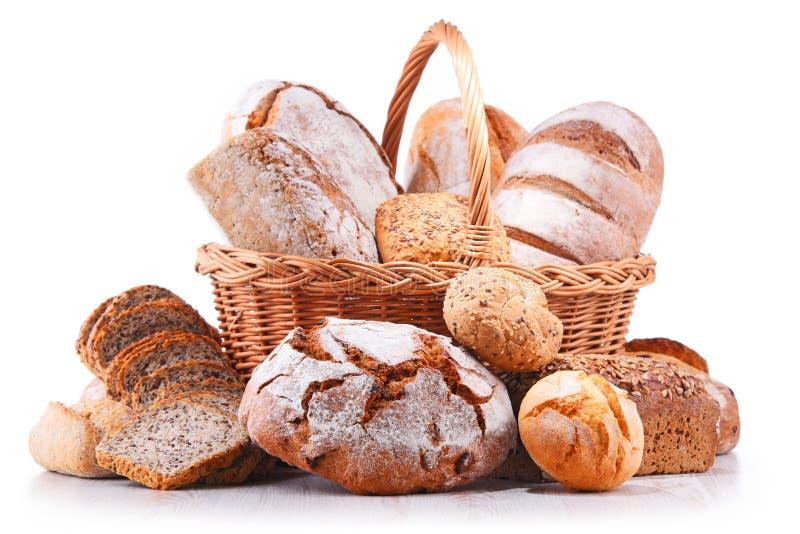 与被分类的面包店产品的构成 库存图片