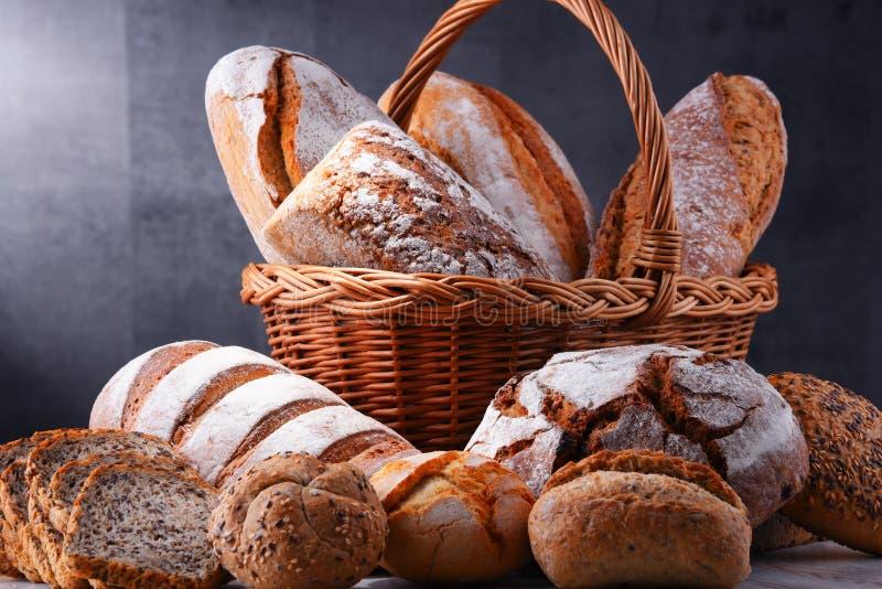 与被分类的面包店产品的构成 免版税图库摄影