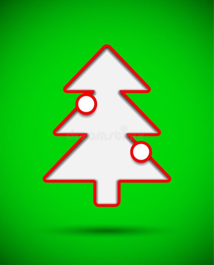 与被删去的圣诞树的卡片与中看不中用的物品 库存例证