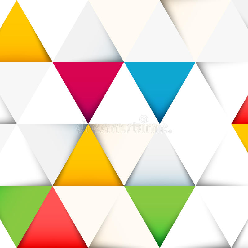 与被削减的纸三角的抽象样式 向量例证