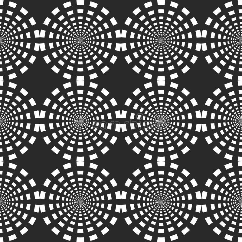 与被加点的元素的无缝的样式 重复纹理的传染媒介 时髦的单色背景 向量例证