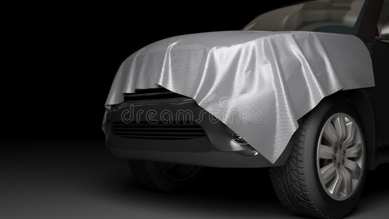 与被包裹的敞篷的SUV 免版税库存图片