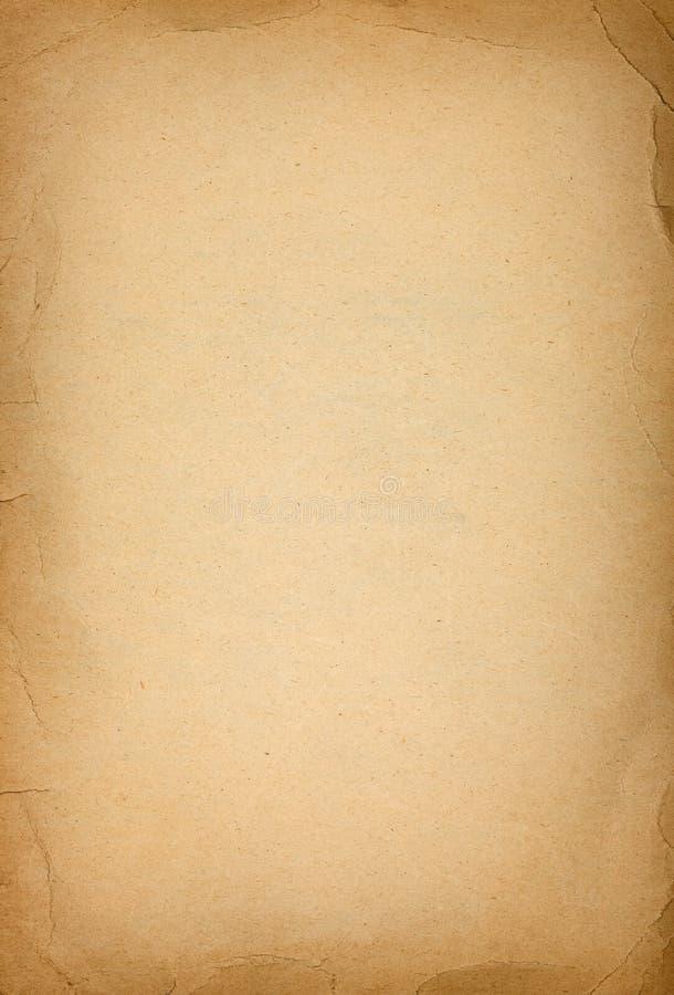 与被弄皱的黑暗的边界的老纸纹理 图库摄影