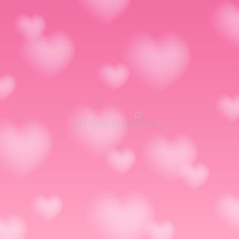 与被弄脏的心脏的情人节背景 皇族释放例证